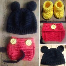 Disfraz Mickey Bebe Recién Nacido Fotos Nuevo Lana Conjunto Ganchillo  Crochet. 2f681c05012