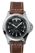 *BRAND NEW* Hamilton Men's KHAKI FIELD KING AUTO Brown Leather Watch H64455533