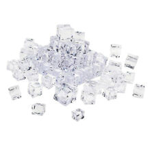 Fake Clear Acrylic Plastic Ice Cubes Display Photography Props Home Decor 30mm
