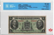 1935 The Royal Bank Of Canada 5$ Large Signature 1866257 - CCCS VF20 -