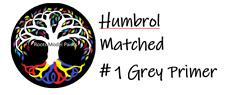 Humbrol Acrylic Matt No.1 Grey Primer Matched :  Roots Model Acrylic Paint