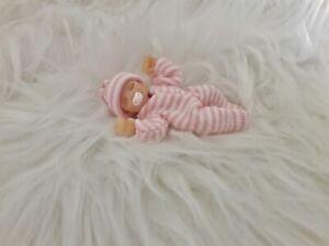 Handmade miniature Baby Girl 1:12 dollhouse mini jointed Ooak polymer clay doll
