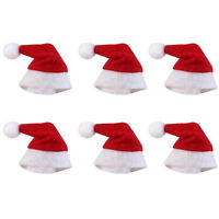 Mini Santa Claus Hats for Lollipop Christmas Party Holiday Lollypop Top-Topper