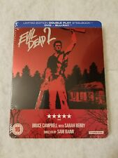Evil Dead 2 Dead by Dawn Steelbook Blu Ray Uk Sold Out Sealed Limited Rare