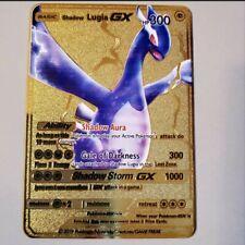 Pokemon Shadow Lugia Gx Gold Metal Card Custom