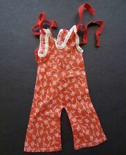 SHIRLEY TEMPLE 1930'S IDEAL ORIGINAL RED PLAYSUIT FOR COMPOSITION DOLL
