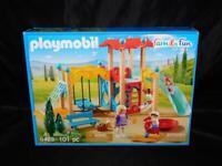 PLAYMOBIL 9423 NEW Family Fun Playground Park 101 Pieces Mom Kids Swing Horse