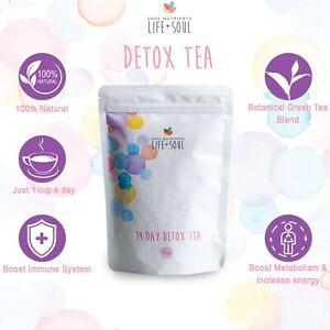 Soul Nutrients 14 Day Detox Tea Plan- Slim Down- 100% Natural- Free Checklist