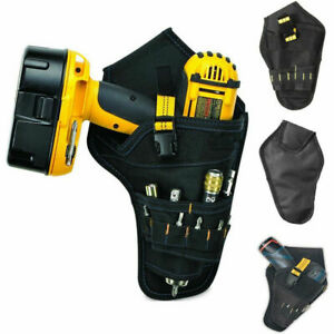 Heavy-duty Drill Holster Tool Belt Pouch Bit Holder Hanging Waist Bag Drill Tool
