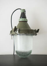 VINTAGE ORIGINAL INDUSTRIAL PENDANT FACTORY LAMP from Eastern Europe