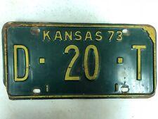 1973 KANSAS Dealer License Plate D-20-T
