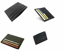 Unisex Men Women Leather Small Id Credit Card Wallet Holder Slim Pocket Case