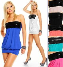 Unbranded Bandeau Patternless Mini Dresses for Women