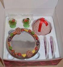 American Girl Felicity's Treats Set NIB Cake Plates Glasses Complete Retired