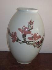 Grand japonais Studio pottery vase peint Prunus