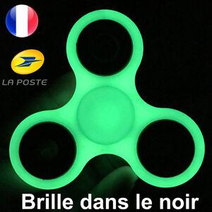 Luminoso Fidget Hand Spinner Fluorescente Brilla Dans Le Negro Anti Estrés