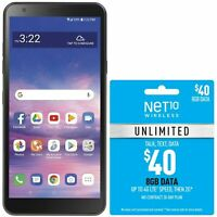 Net10 LG Journey 4G LTE Prepaid Cell Phone w/ $40 Airtime Plan Included