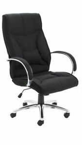 Whist Black  Fabric High Back Executive Office Swivel Chair With Lumbar Support