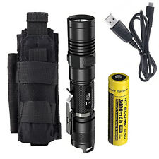 Combo: Nitecore MH12GT Rechargeable Flashlight w/NCP30 Holster