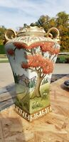 Vintage Hand Painted Vase by Nippon - Great Coloring & Ornate Design