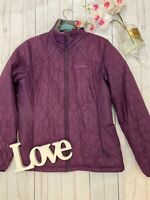 Berghaus Size 14 purple thin quilted padded walking jacket outdoors fitted