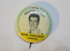 1956 OLYMPIC GAMES MELBOURNE AUSTRALIA Kevin O'Hal Australian Swimming ButtonPin