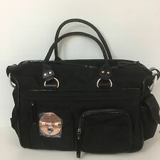 Mimco LUCID Weekender TURNLOCK Baby Travel Shopper Hand Bag Black Rosegold $299
