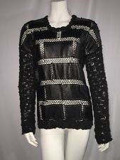 Summer Of Seventy Eight Leather Crochet Top Sweater Size XS