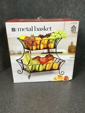 Mesa Home Products 2-Tier Basket For Fruit Vegetables Or Bread M86A