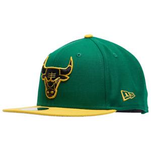 Chicago Bulls Hat New Era 9Ffity 950 Men NBA Snapback Cap Green Black Yellow