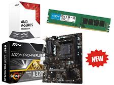 AMD Quad Core Gaming Motherboard CPU Bundle 8GB RAM Pre-Assembled