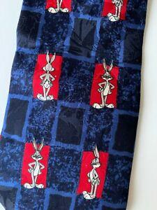Looney Tunes NWT Mens Neck Tie Vintage 1990s Bugs Bunny Silk Made in Italy