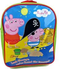Peppa Pig George Green Sea Pirate Treasure Kids Children Backpack