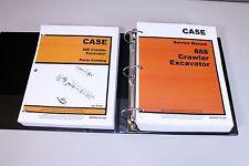 CASE 888 CRAWLER EXCAVATOR SERVICE PARTS CATALOG MANUAL IN BINDER AFTER 15401