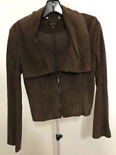 Desa Suede Jacket Made in Turkey Brown S New