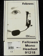 FELLOWES 91218 Mono Headset GN Netcom almacén encontrar nuevas sin vender en Stock-Original