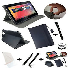 """3 in 1 SET 100% Real Leather 10.1"""" Stand Case For Vodafone Smart Tab N8"""
