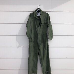 VTG Mens Military Coveralls Cotton Sateen Type 1 Size Medium