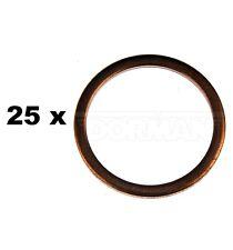 Set of 25 Copper Drain Plug For 7/8 M22 Jeep 6-230 Subaru Star Dorman 095-005