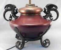Antique Gothic Bradley & Hubbard Griffin~Dragon~Gargoyle Oil lamp Base~Converted