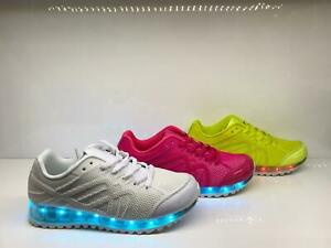 Footwear Sale Ladies Light Up Trainers USB charger Shoes LED Flashing Sneaker