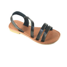 New Girls Kids Sandals Gladiator Thong Flops Slip On Flip Flat Shoes size 9-4