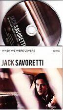 JACK SAVORETTI When We Were Lovers 2016 UK 1-track promo CD