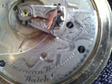 1883 AMERICAN WALTHAM WATCH CO ANTIQUE WORKING POCKET WATCH SIZE 18s JEWELS 15j