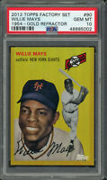 Willie Mays 2012 Topps Factory Set 1954 Gold Refractor Baseball Card #90 PSA 10