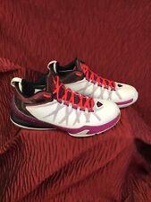 Nike Zoom Jordon Mens Trainers Size 7 White Pink Purple Tones