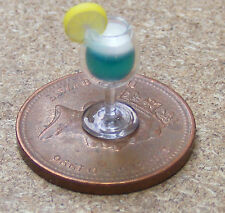 1:12 Scale Blue Moon Vodka Cocktail Dolls House Miniature Drink Accessory CT13