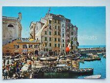 CAMOGLI Sagra del pesce BAR animata Genova vecchia cartolina