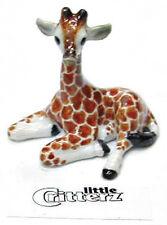 ➸ LITTLE CRITTERZ Wild Animal Miniature Figurine Giraffe Calf Aerial