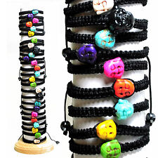 Adjustable Buddha Charm Macrame Bracelets 30 Pieces with Display Assorted colors